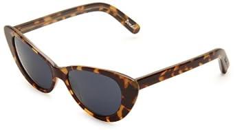Elizabeth & James Benedict Cat Eye Sunglasses,Brown Frame/Blue Lens,One Size