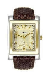 Timex Men's T2M439 Classic Brown Braided Leather Strap Watch