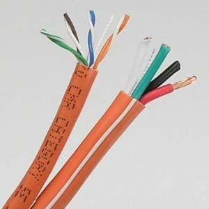 InstallerParts 500 ft Cat 5E+16/4AWG Audio Combo Cable CMR