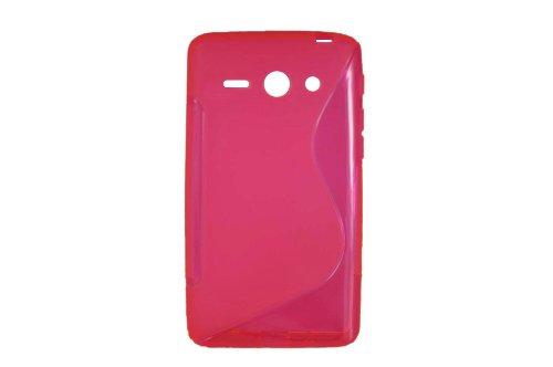 S-Linie TPU Schutz Flexible Tasche Schale für Huawei Ascend Y530 C8813 Rose
