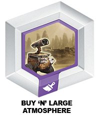 Disney Infinity Series 3 Power Disc Buy 'N' Large Atmosphere (Wall-E skydome) - 1