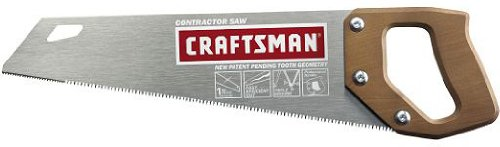 Craftsman 9-36261 15-Inch Coarse 9 Point Carpenter Handsaw with Wood Handle