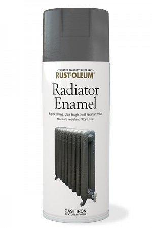 Rust-oleum Radiator Enamel Paint Cast Iron 400ml Spray Paint by Rustoleum (Radiator Spray Paint compare prices)