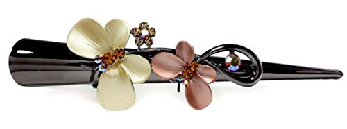 Fashion Dimensions Orange Butterfly Kisses Crystal Alligator Hair Clip
