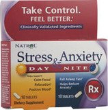Natrol Stress And Anxiety: Day And Nite Formula 10+10 Tablets 20 Tabs