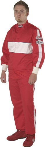 G-Force 4385SMLRD GF 505 Red Small Triple Layer Racing Jacket