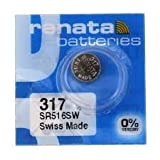 renata レナータ 317 1個 酸化銀ボタン電池(SR516SW)※スウォッチグループ/スイス製【並行輸入品】