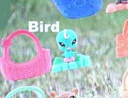 McDonalds Happy Meal Littlest Pet Shop Bird w/Basket Toy Figure #7 2010 - 1