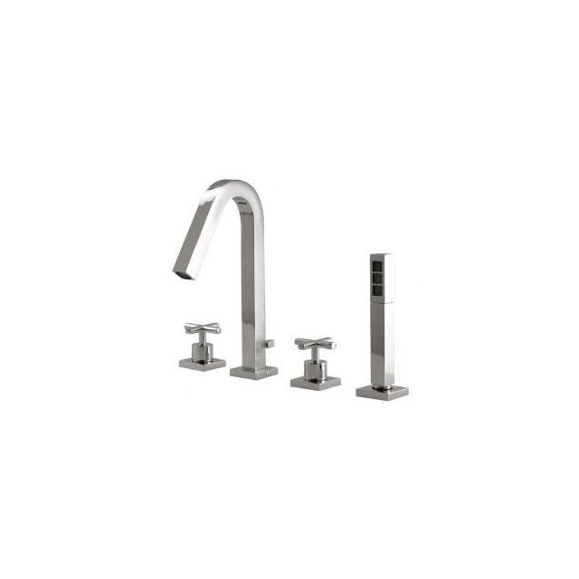 Aquabrass X7718 PC Polished Chrome Tub Faucet W/Hand Shower