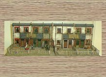 OO Scale Model (1/76th) Scale Model Kit Cottage backs - terrace of 4 This item is NOT a TOY - Please Read Full Product Description.