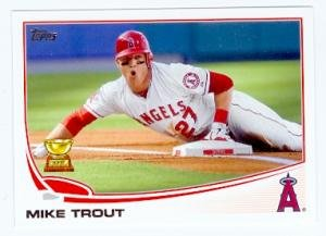 Mike Trout baseball card (Los Angeles Angels) 2013 Topps #27 All Star Rookie
