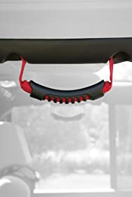 Rugged Ridge 13305.15 Red Windshield Pillar Rear Side Grab Handle - Pair
