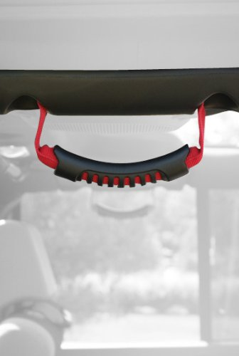 Rugged Ridge 13305.15 Red Windshield Pillar Rear Side Grab Handle - Pair front-390330