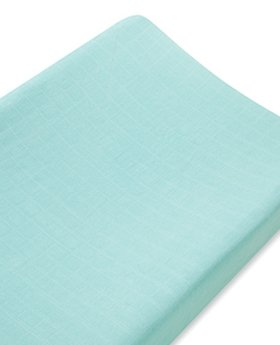 Aden + Anais Bamboo Changing Pad Cover - Azure -Solid - Aqua - 1