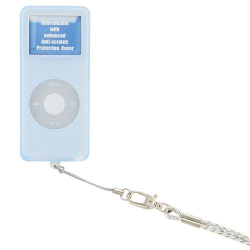 ETUI SILIC BLEU IPOD NANO V2 - Pour iPod Nano 1 Go, 2 Go ou 4Go- Etui metal- Accès aux connexions...
