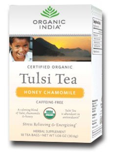 Organic India Tulsi Honey Chamomile Tea 18 Bags Per Box 2 Boxes