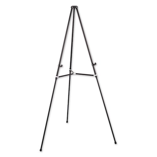 Quartet Aluminum Lightweight Telescoping Display Easel, 66 Inches, Supports 25 Lbs., Black (51E)