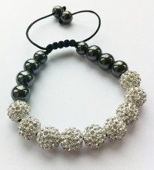 Shamballa Bracelet Full Silver (No Strings) Disco Ball Friendship Bead Unisex Bracelets Swarovski Crystal Beads