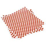 "Cakesupplyshop Packaged Sheets 12x12"" Red and White Checkered Food Basket Liners & Wrapping Tissue"