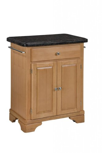 Cheap Kitchen Cart with Salmon Granite Top in Maple Finish (VF_HY-9003-0095)