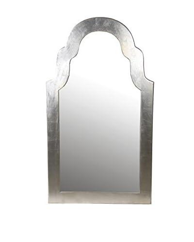 Privilege Large Wood Accent Mirror, Aluminum