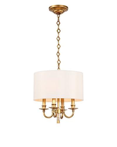 Gold Coast Lighting Lawson 4-Light Mini Chandelier Convertible, Aged Brass