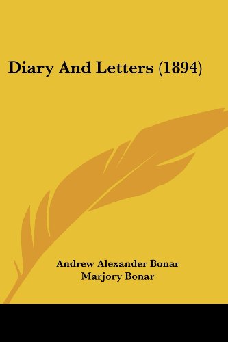 Diary and Letters (1894)