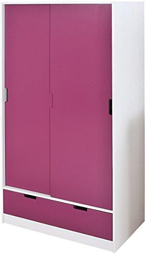 20701070 Kleiderschrank Kinderzimmer Kinderschrank Schrank Kinder 2-türig Schublade lila