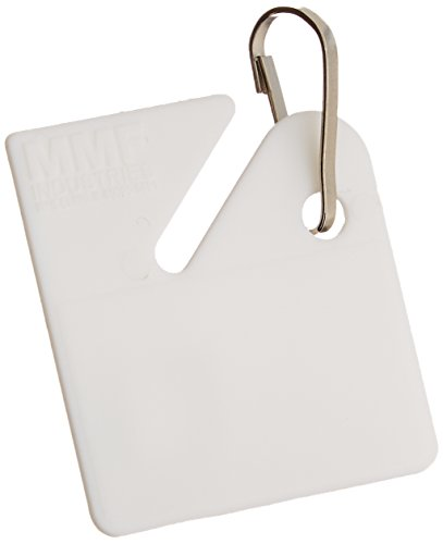 MMF Industries Slotted Rack Key Tags, Plastic, 1.5 Inch Height, White, 20 per Pack (201300006)