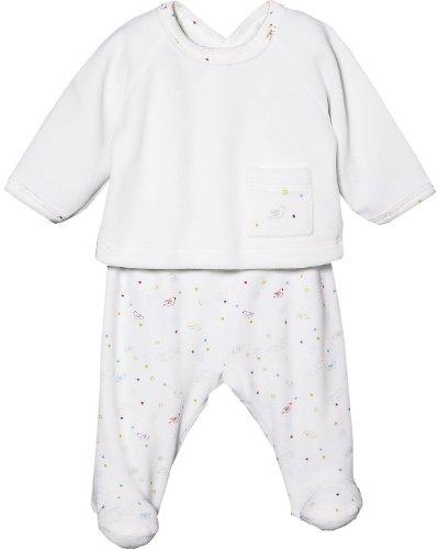 Petit Bateau due separatori giacca e pantaloni bianco 6 mesi