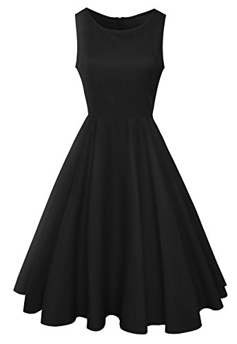 Anni-Coco-Womens-Classy-Audrey-Hepburn-1950s-Vintage-Rockabilly-Swing-Dress