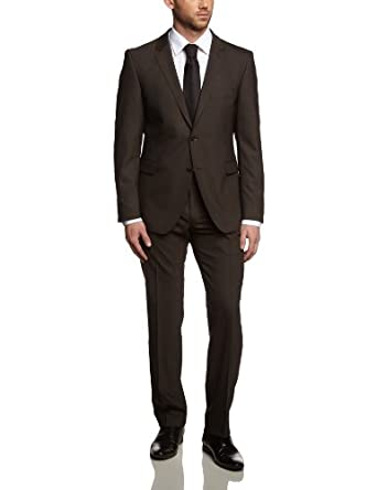 Strellson Premium Herren Anzugsjacke Slim Fit 11000336 / L-Rick, Gr. 25, Braun (157)