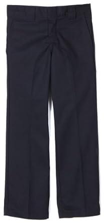 Dickies Big Boys' Slim Straight Pant,Dark navy,8 R