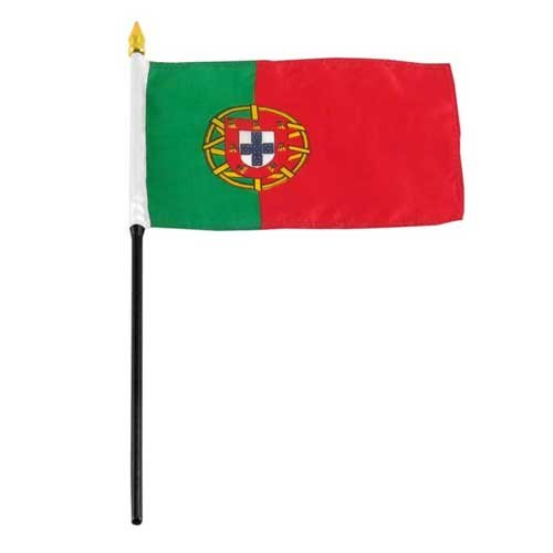 Portugal Flag 4 x 6 inch World Cup Supporters Flag