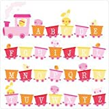 The Wall Sticker Company TeamKitten Alphabet Train (Pink)