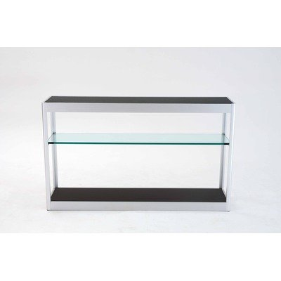 Cheap Console Table with Solid Brushed Aluminum Frame (XJH24-BLK)