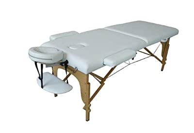 White Portable Folding Massage Table Tattoo Spa Beauty Facial Bed Supply Chair U1