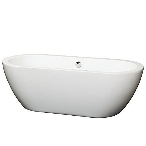 Best Price! Soho 68 inch Deep Soaking Bathtub in White (Freestanding) with Chrome Drain
