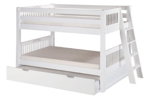 Camaflexi Mission Style Solid Wood Low Bunk Bed With