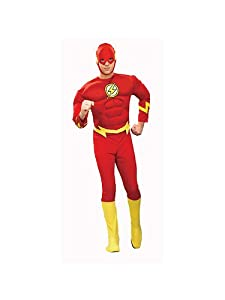 Justice League - The Flash Muscle Chest Tween Costume Size Medium