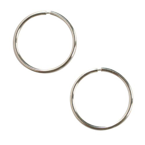 Sterling Silver 16 mm Creole Hoop Earrings