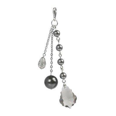 SilberDream Charms - Charm Pierre gris en argent pour charmes colliers bracelets boucles d'oreilles - Argent 925 Sterling - FC4807