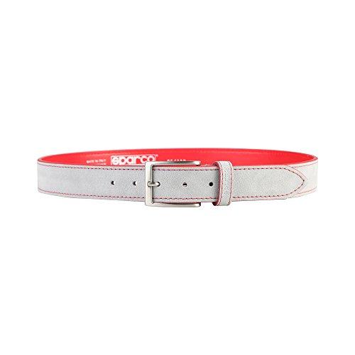Sparco - Derby - Cintura Casual Due Colori - Uomo (125 cm) (Grigio Chiaro)