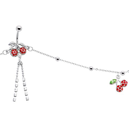 Jeweled Sweet Cherry Belly Chain