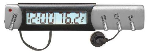 Custom Accessories 11059 Indoor/Outdoor Thermometer, Clock and Ice Alert