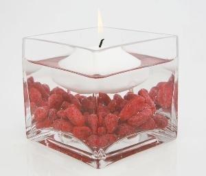 "3"" Clear Glass Square Vase (24pcs/Bulk), Clear Glass"