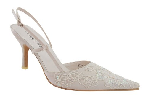 Passamentrie and Sequin Nite Shoe (April) (8.5, Ivory)
