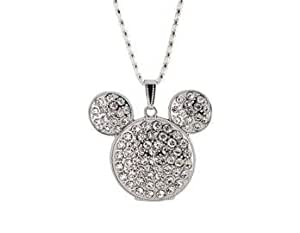 Euroge Tech 8GB Crystal Mickey Mouse Necklace USB Flash Drive