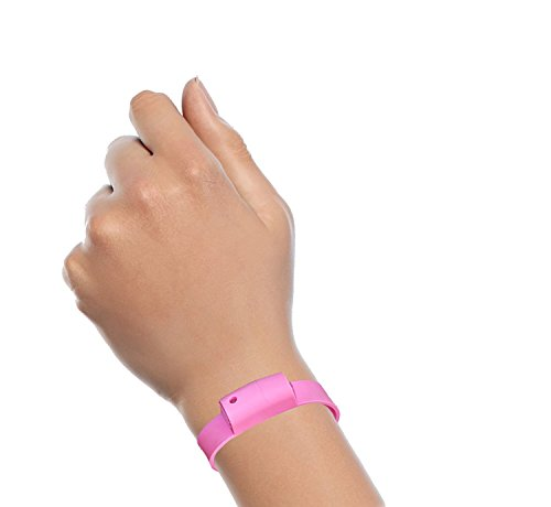 Pepper Spray Bracelet with Adjustable Silicone Band, Pink | Contains 3 - 6 Bursts of 10% Oleoresin Capsicum (OC) | Lightweight & Discreet for Men or Women from Little Viper | Cannot Ship to MA or NY (Pepper Spray Running compare prices)