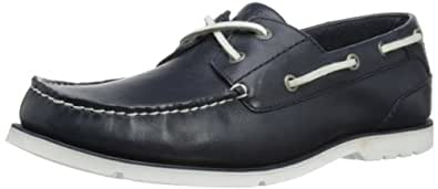 Rockport Mens Summer Tour 2 Eye Boat Shoes V73566 Navy/White 7 UK, 40.5 EU, 7.5 US, Wide
